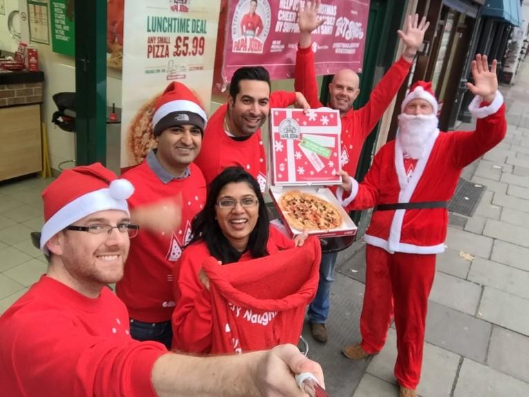 Papa John's Dough-nates over £200,000 to Text Santa Campaign
