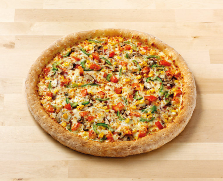 A Thick Crust Garden Party Vegetarian Pizza by Papa John's