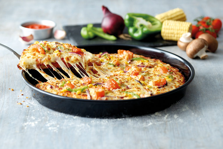 A Deep Crust Pizza With Garden Party Topping by Papa John's
