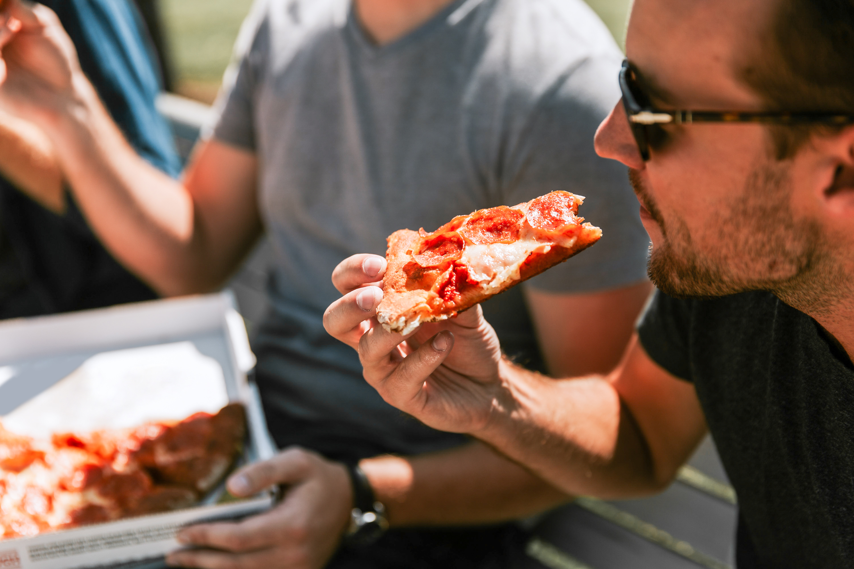 Pepperoni Pizza Slice Outside